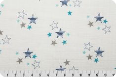 Double Gauze Fabric for Baby Swaddle blanket like Aden and Anais. Embrace Stars in Blue, You Choose the Cut. Free Shipping Available by fabricshoppe on Etsy