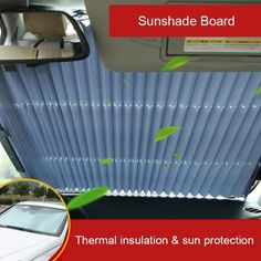 AUTOMOBILE WINDSHIELD PROTECTION - The unpleasant situations are numerous as the heat which literally comes to burn our seats or which makes raising the temperature in the car forcing us to use the air conditioning to excess. Windshield Shade, Car Sun Shade, Thermal Insulation, Parasol, Rear Window, Car Accessories, Used Cars, 3d Printing, Automobile