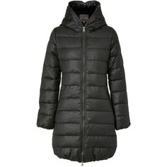 DUVETICA Peat Ace Flannel Down Coat ($470) ❤ liked on Polyvore