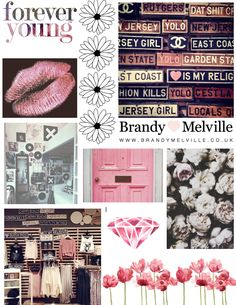 pretty pink collage page