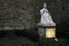 In the Medici Chapel gardens, Anna Maria Luisa, last of the Medici