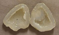 Tabasco Geode 1 Pair Cut and Polished Great for Jewelry 66594