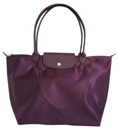 Longchamp Le Pliage Large Bilberry/purple Tote Bag | Totes on Sale at Tradesy