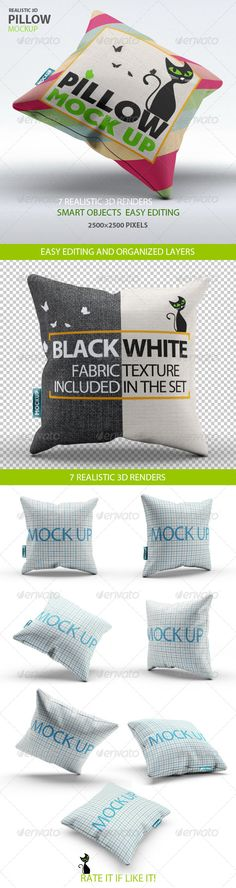 Pillow Mock-Up Download here: https://graphicriver.net/item/pillow-mockup/7794640?ref=KlitVogli
