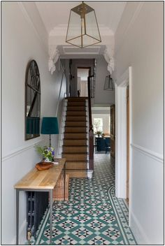 Hallway Decorating 337699672057630483 - Traditional Victorian home in the UK with interior design by Beth Dadson of Imperfect Interiors. Come see more Timeless and Tranquil Blues in a Victorian Home. Source by hadleycourt Interior Garden, Interior Design Kitchen, Home Design, Victorian Terrace Interior, Design Ideas, Victorian House Interiors, 1930s House Interior Kitchens, Modern Victorian Bedroom, Georgian Interiors