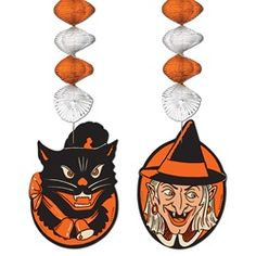 Bring back Halloween favorite by proudly displaying the Halloween Character Danglers. The Halloween Character Dangler come in a package that contains two ceiling decorations.  $5.59