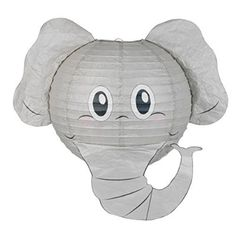 Elephant Lampshade-Decorative Animal Lampshades-Children bedroom/playroom/ baby nursery lighting-Fun and vibrant colors-Pendant lights-Ceiling shades UK