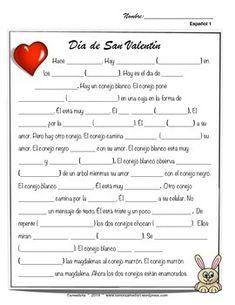 Spanish Valentines Day Worksheets  Spanish language and Spanish