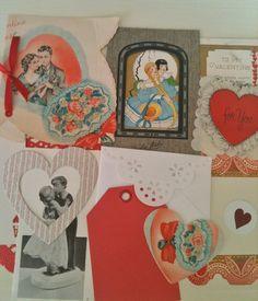 Vintage Paper Kit Valentine Inspiration Pack Love by VelvetSoup, $6.50