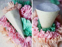 Icing Designs: DIY Ruffled Ice Cream Cones