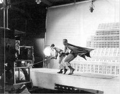 Batman 1966 from the set: Adam West & Burt Ward