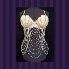 Sexy Pearl Mermaid Bra Top by SPARKLEmeGORGEOUS on Etsy