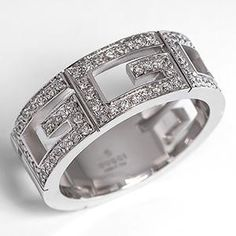 Gucci 3G Multi G Diamond Band Ring Solid 18K White Gold