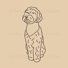 Labradoodle, Golden Doodle Dog Instagram Highlight Covers | Dog Instagram Highlight Icons | Instagram Story Highlight Icons | Instagram Covers | Labradoodle, Golden Doodle, Cavapoo, Maltipoo Cavapoo, Maltipoo, Goldendoodle, Dog Illustration, Illustrations, Golden Doodle Dog, Dog Paintings, Instagram Highlight Icons, Dog Portraits