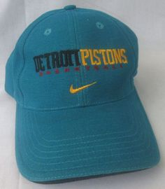 5d2f68c52ca Detroit Pistons NBA Basketball Men s NIKE TEAM Hat Teal Adjustable Baseball  Cap