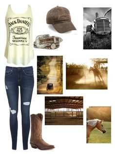 """""""Give Me Back My Hometown"""" by country-life ❤ liked on Polyvore featuring Nocona, Miss Selfridge, Blazin Roxx and Haflinger"""