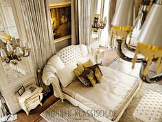 Prestige Collection www.it Classic luxury italian bedroom Contemporary Bedroom Furniture, Modern Bedroom, Luxury Furniture, Luxury Interior Design, Luxury Home Decor, Luxury Homes, Simple Bookshelf, Beautiful Curtains, Luxury Dining Room
