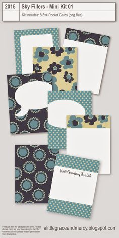 Free Pocket Card   Sky Kit from A Little Grace and Mercy