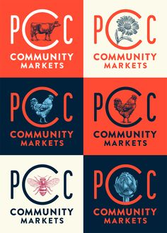 New Logo and Identity for PCC Community Markets by Wexley School for Girls
