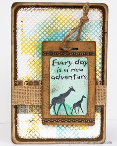 Layers of ink - Wildlife Cards Tutorial by Anna-Karin with Sizzix dies by Eileen Hull, and Wild Africa stamps by Darkroom Door.