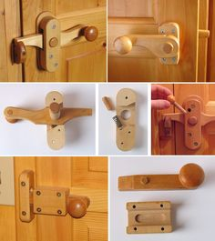 ❧ Wooden door knobs & latches