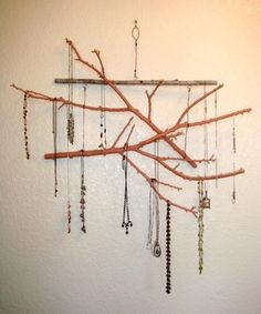 Drift Wood, Twigs and Branches make a great Jewelry Hanger. Good for me and good for Katherine's business.