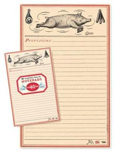 This piggy notepad is by far our best seller at Cartolina!
