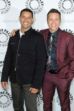 Jon Huertas and Seamus Dever appear at a 'Castle' event at the Paley Center in Los Angeles, California on Sept. 30, 2013.