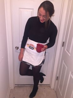simple diy doodlebob halloween costume for women for