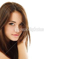 Dospívající dívka krásná veselá těší izolované na bílém — Stock obrázek #21708633