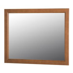 Home Decorators Collection Claxby 31.4 in. W x 25.6 in. H Wall Mirror in Toffee