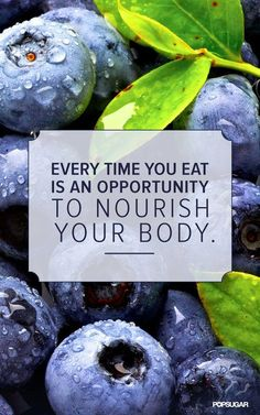 Take the opportunity to nourish your body every moment that you can!   www.hungryforchange.tv