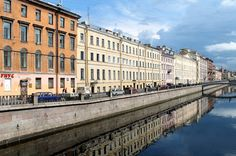 Canal in St. Petersburg, Russia