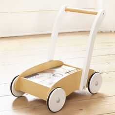Baby Walker With Wooden Blocks, Christening and New Baby Gifts, Gifts and Toys