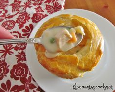 Country Chicken Pot Pie. This is my go-to recipe!  It's delicious. I use pie crusts instead of puff pastry.
