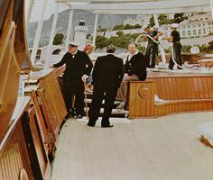 Churchill was a guest of Aristotle Onassis on his yacht the Christina.
