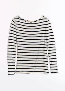 Francoise Striped Long Sleeve Tee Amour Vert $90.00