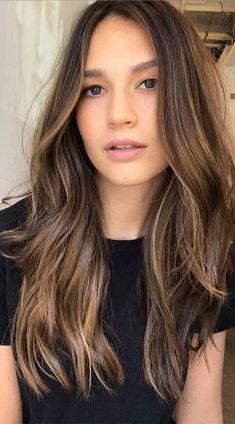 Balyage Long Hair, Brown Hair Balayage, Brown Blonde Hair, Soft Brown Hair, Light Brown Hair Colors, Soft Balayage, Brunette Hair With Highlights, Brown Hair Half Head Highlights, Brown Hair With Lowlights