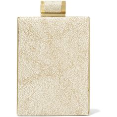 Halston Heritage Metallic printed brushed suede clutch ($345) ❤ liked on Polyvore featuring bags, handbags and clutches
