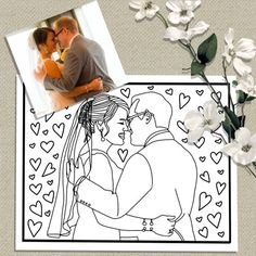 Custom Coloring Page From Your PhotoWedding by CristinApril