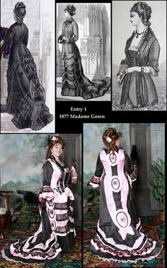 Victorian Bustle Fashion Gown Costume Contest