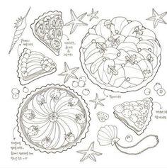Sweet-Sapporo-Coloring-Book-Adult-Anti-Stress-Sweet-Food-Pancake-Waffle-Parfait