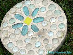 Little Birdie Secrets: how to make garden stepping stones {tutorial}