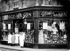 Shop in Weston-super-Mare, Old Circus, George Mason, Weston Super Mare, High Street Shops, London Street, Street Signs, Old Photos, Black And White, Shopping
