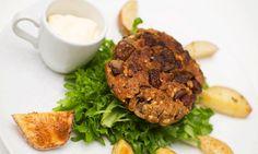 sprø og saftig vegetarburger