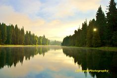 Nature Photography Reflection Photo Lake by LDTwedePhotography