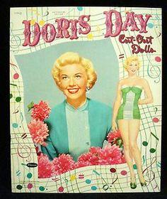vintage paper dolls   Doris Day Paper Dolls Vintage Uncut Original 1954 Whitman 1179 15 RARE ...