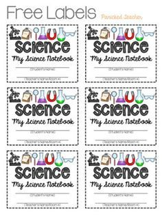 FREE LABELS to start out your INTERACTIVE NOTEBOOKS this year! SCIENCE, MATH, READING RESPONSE, and MAKING INFERENCES!
