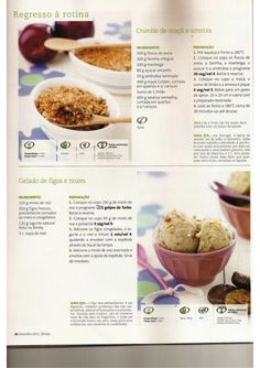 Revista bimby 2011.09 n10 Food C, Sugar Free, Oatmeal, Sweets, Beef, Vegan, Cooking, Breakfast, Cake