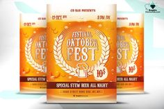 OktoberFest Flyeris a model of beer for these Oktoberfest parties in the form of a very creative flyer, so you know if you want to surprise in the promotion of your Beer party this is ideal for you.
